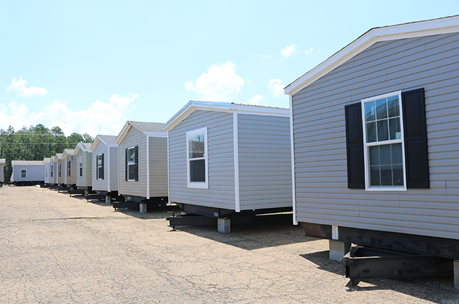 Row of Single-wide homes